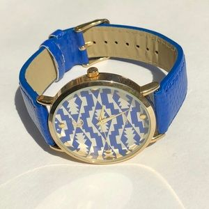 Blue Aztec watch
